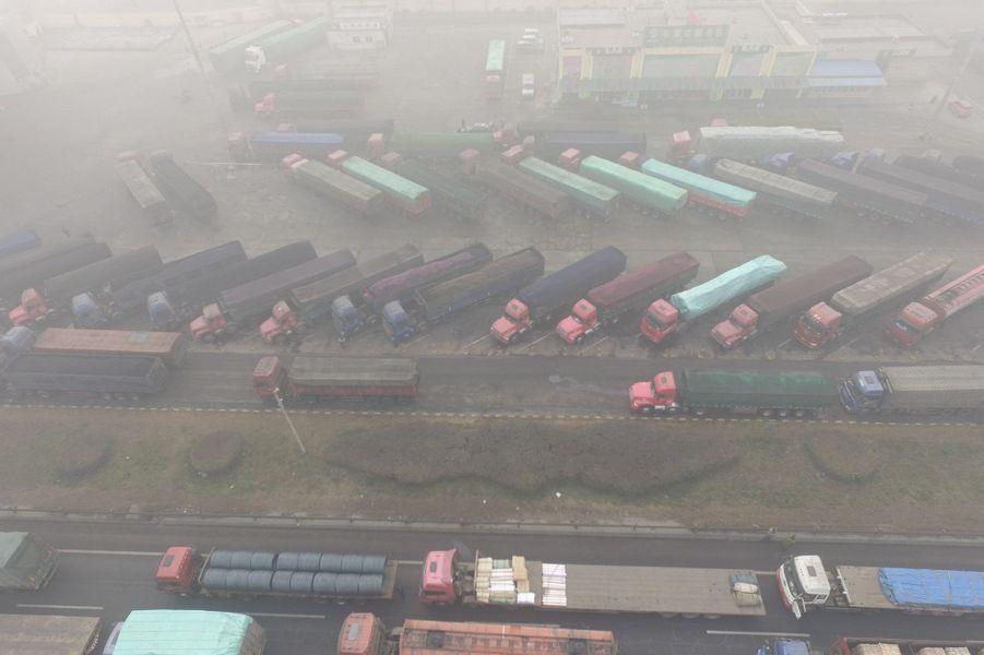 Pollution àShijiazhuang, le 20 décembre 2016.