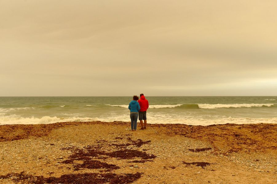 Sur une plage deQuiberon.