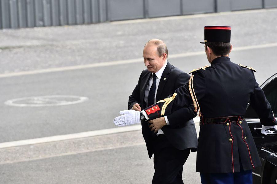 Arrivée de Vladimir Poutine en retard