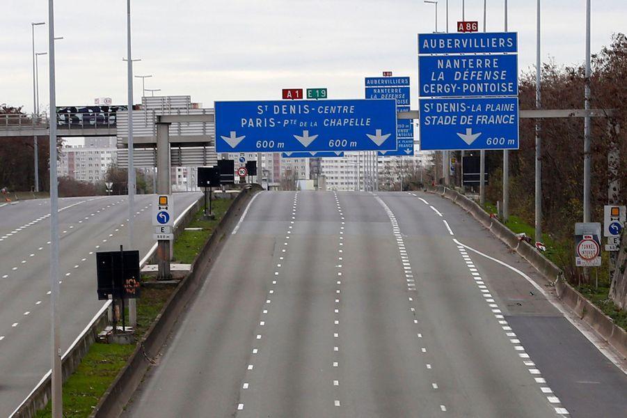 L'autoroute A1 déserte
