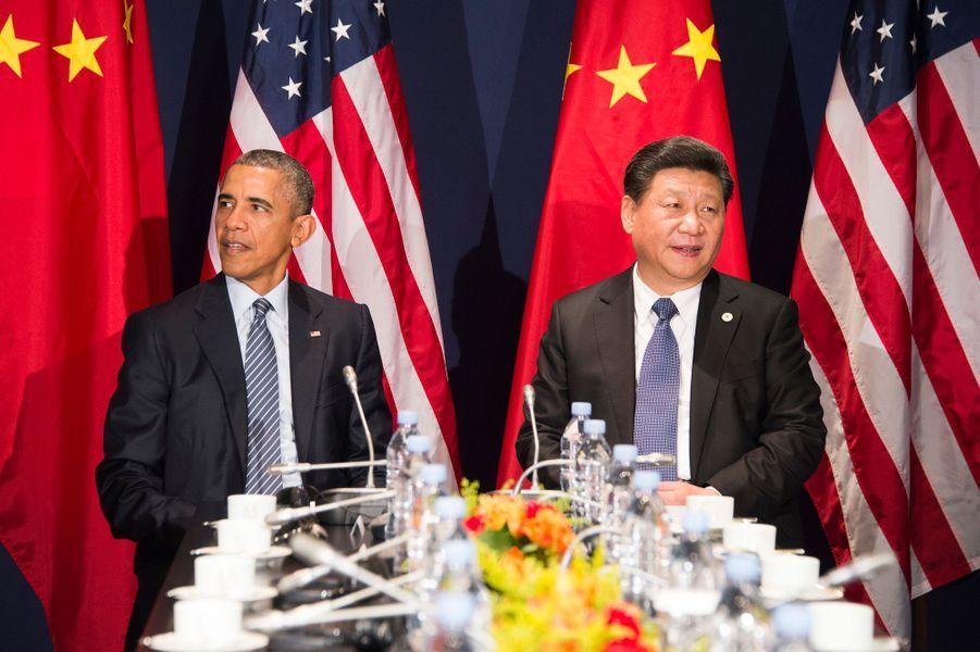 Le président américain Barack Obama et le président chinois Xi Jinping