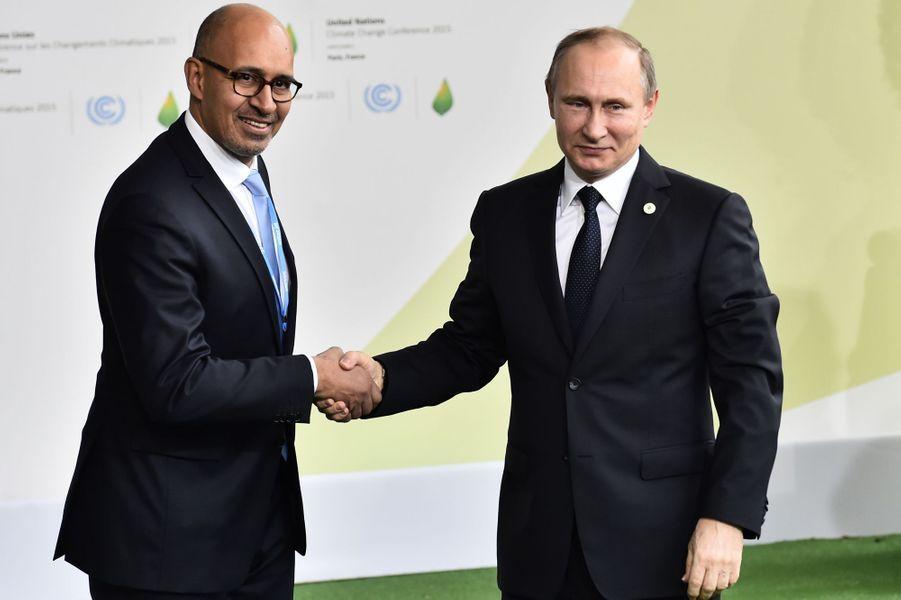 Le président russe Vladimir Poutine reçu par le Secrétaire d'État chargé des Affaires européennes Harlem Désir