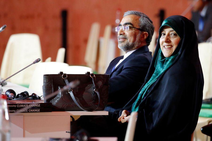 Le sourire de la vice-présidente iranienne Masoumeh Ebtekar