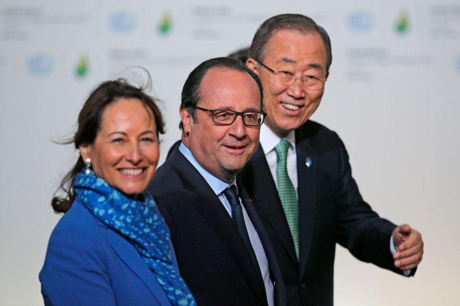 Ségolène Royal, François Hollande et Ban Ki-moon