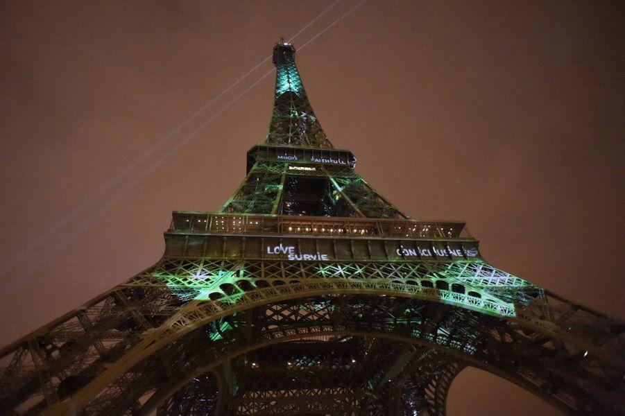 La Tour Eiffel aux couleurs de l'écologie