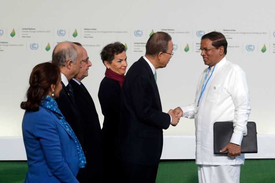 Le président sri-lankais Maithripala Sirisena