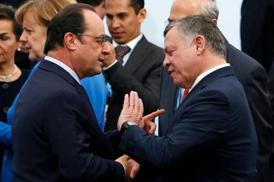 François Hollande et le roi Abdallah de Jordanie