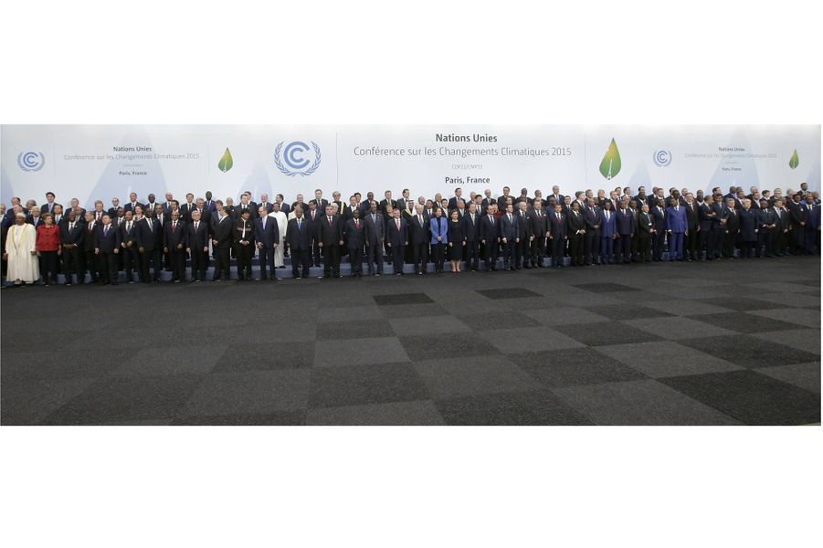 Les 150 chefs d'Etats réunis