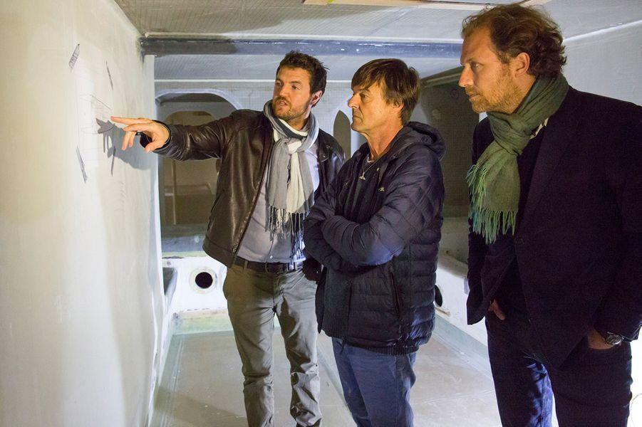 Victorien Erussard, Jérôme Delafosse et Nicolas Hulot