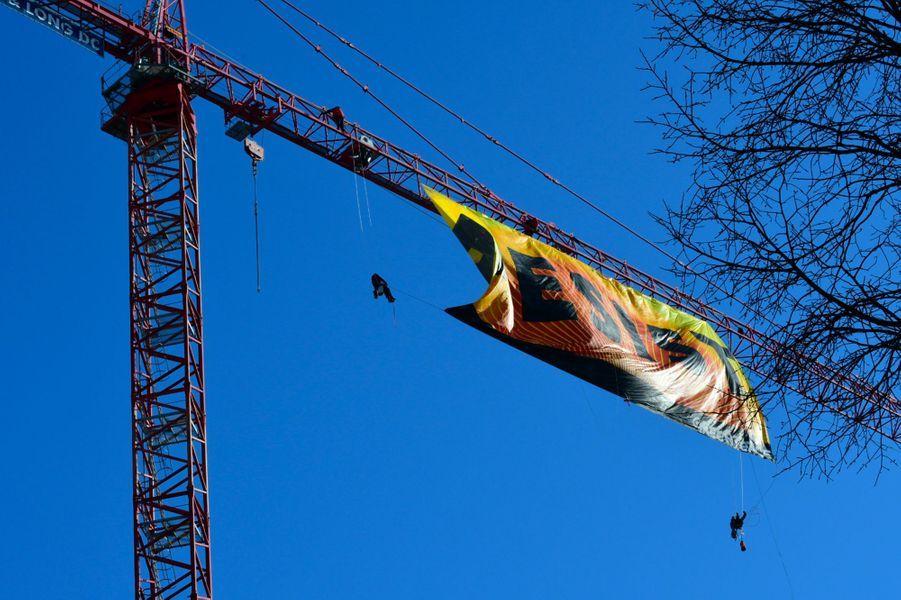 La banderolle de Greenpeace
