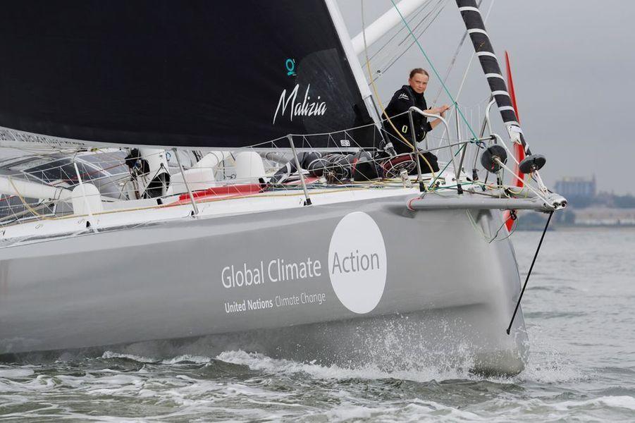 Greta Thunberg est enfin arrivée à bon port. Partie le 14 août dernier à bord du voilier zéro émission carbone de Pierre Casiraghi, elle a rallié New York ce mercredi.