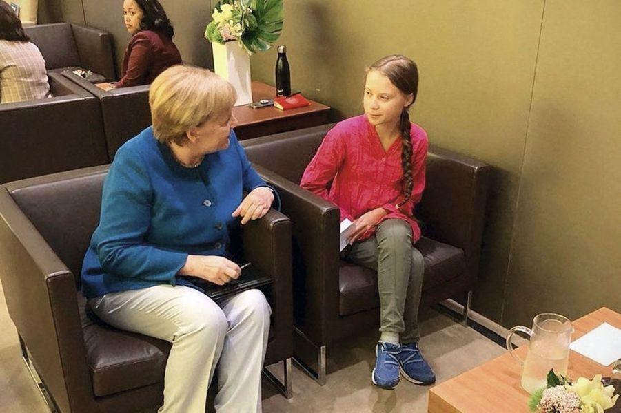 Tête à tête avec Angela Merkel à New York en septembre.