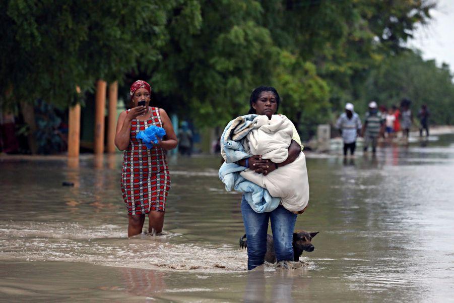 La tempête Laura a laissé place aux inondations.