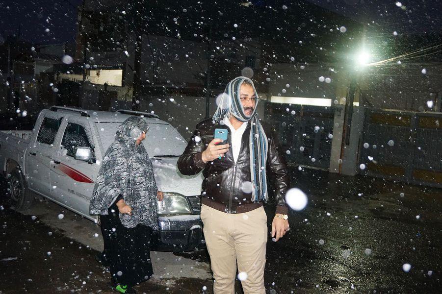 Bagdad, sous la neige.