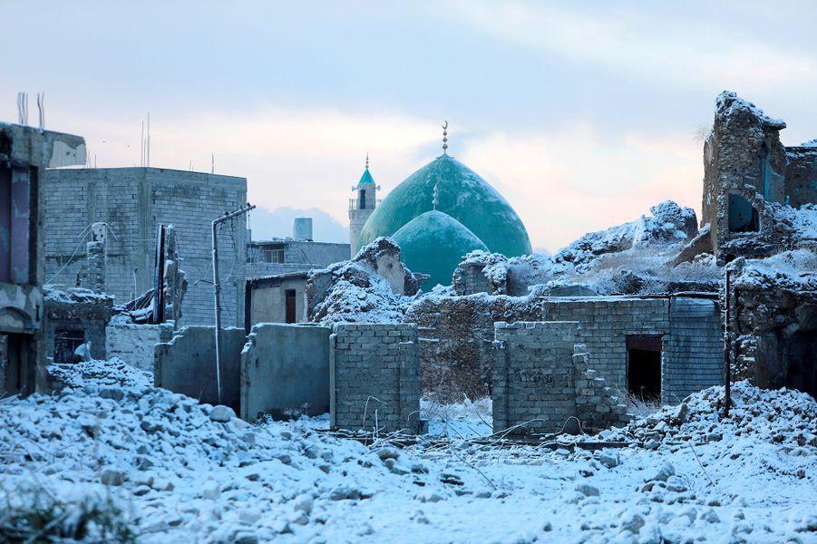 Mossoul, sous la neige.