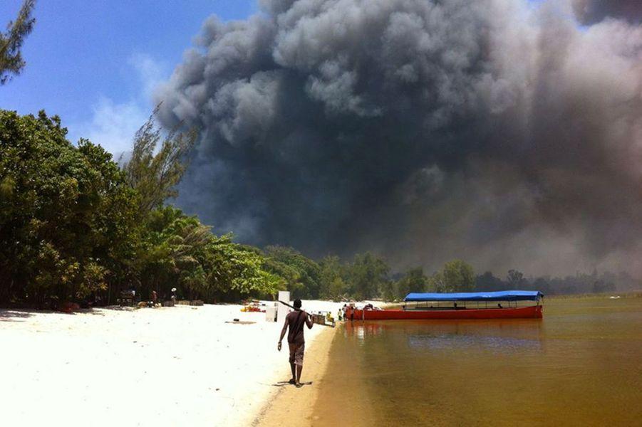 Des individus ont mis le feu a la forêt de Vohibola en 2016 après qu'elle a été classée comme protégée.