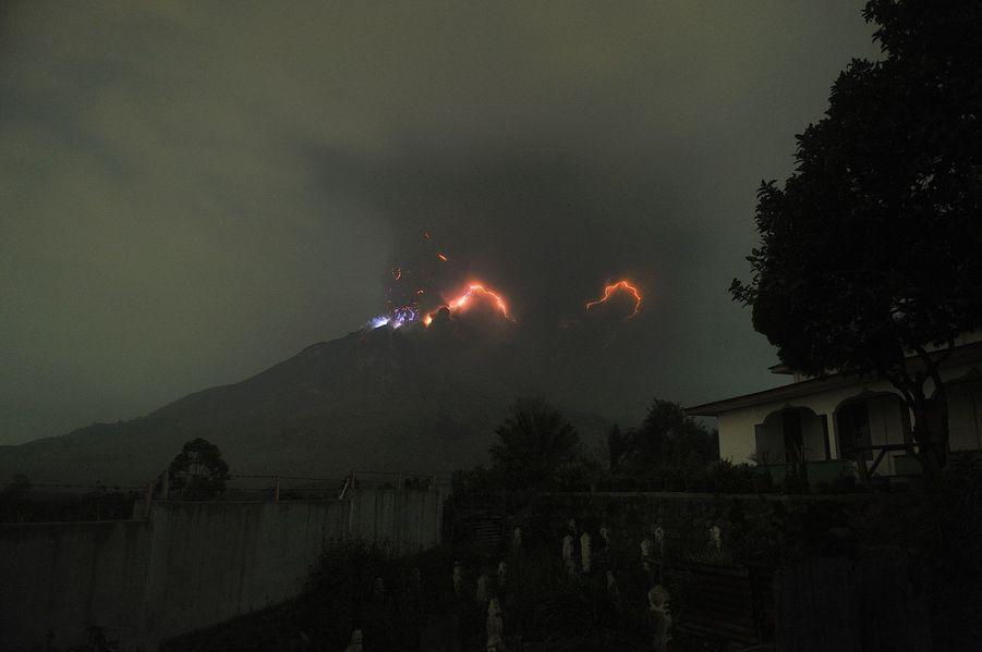 Les orages volcaniques le 18 août.
