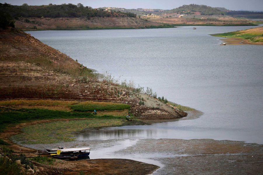 Le réservoir Boqueirao est presque asséché