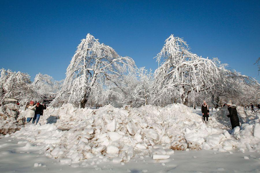 Les chutes du Niagara, le 21 février 2021.