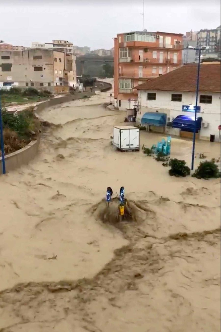 Des dizaines de maisons et des milliers d'arbres ont été déracinés par les intempéries qui ont touché la Vénétie, en Italie.