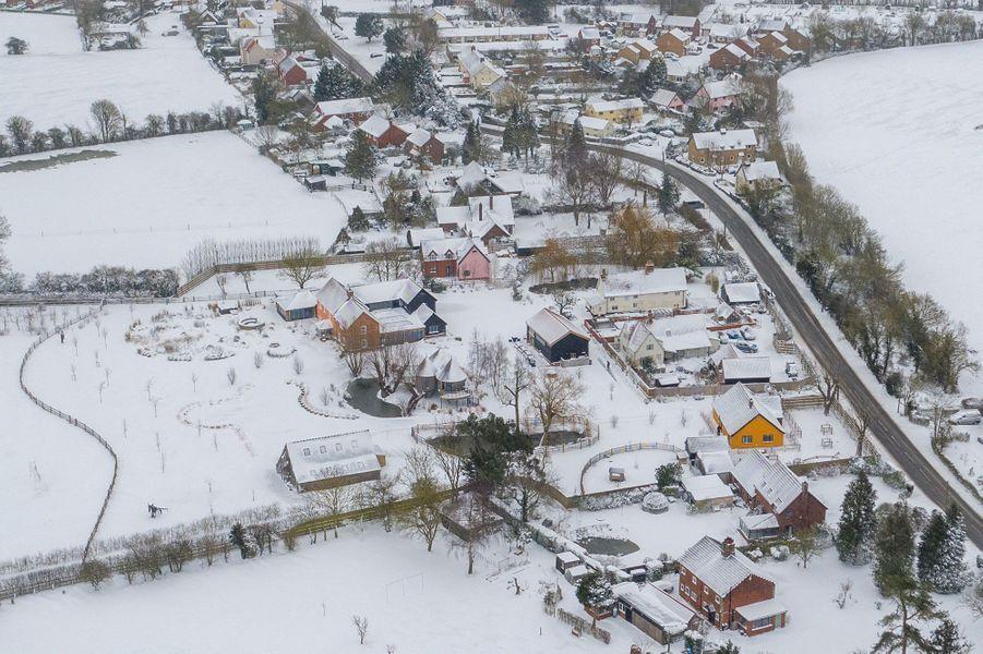 Vue aérienne du comté deSuffolk.