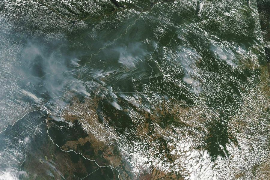 Une image satellitaire prise par la Nasa, le 13 août 2019.