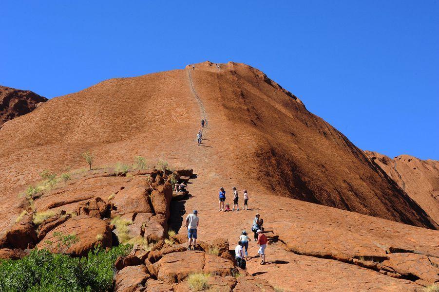 Le rocher Uluru.