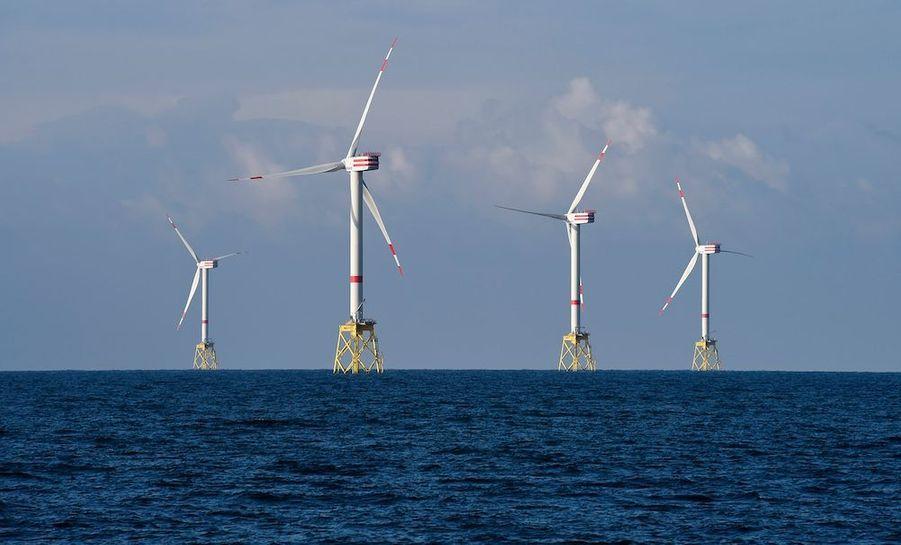 Des éoliennes en pleine Mer du Nord