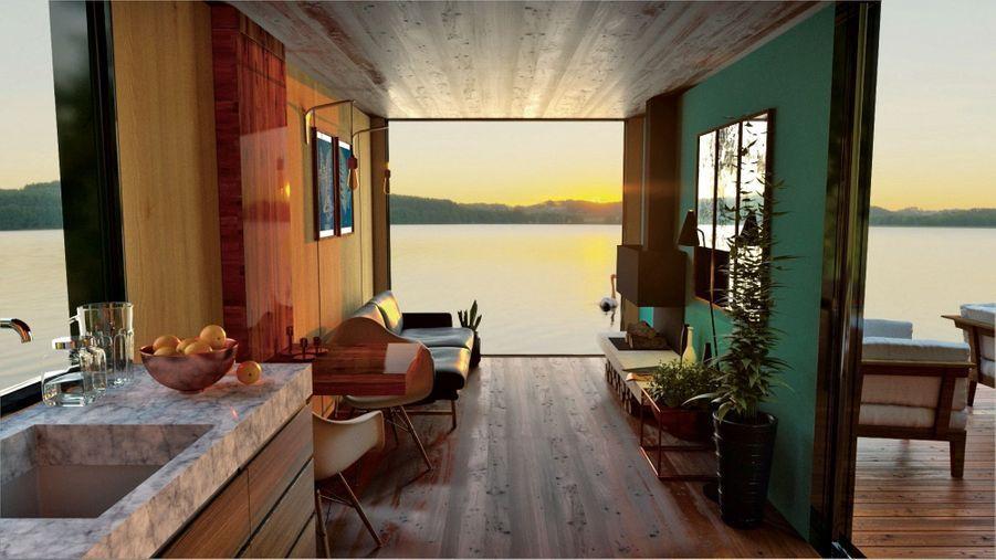 Monter l'ossature d'une maison de 150 mètres carrés prend deux semaines