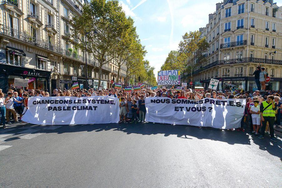 Marche pour le climat à Paris, samedi 8 septembre