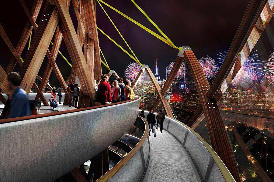 La tour imaginée par l'agence d'architecture DFA.