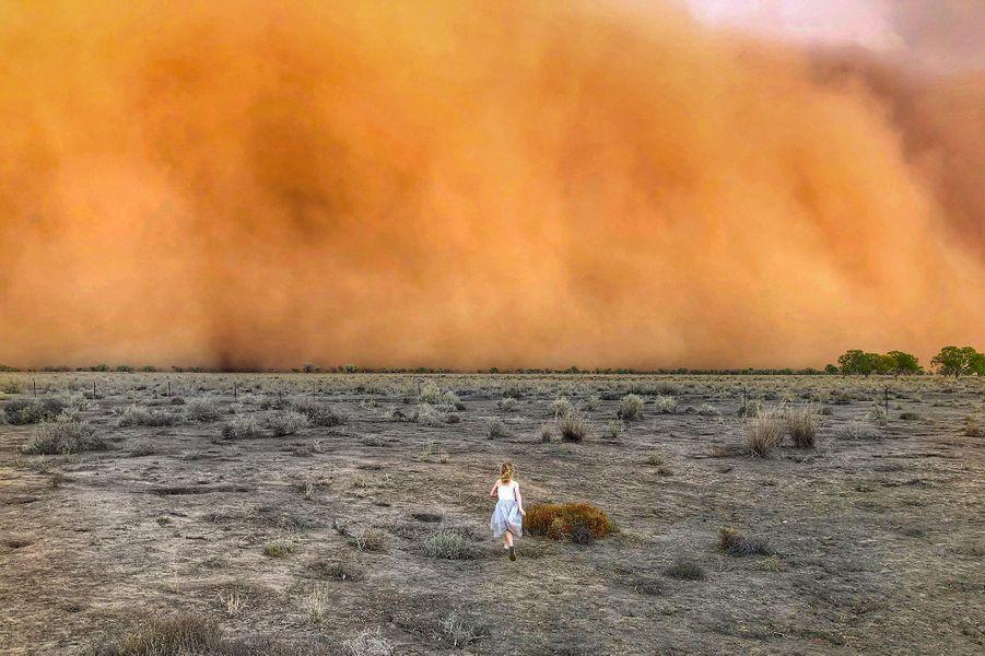 Tempête de sable observée àDubbo, en Nouvelle-Galles du Sud.