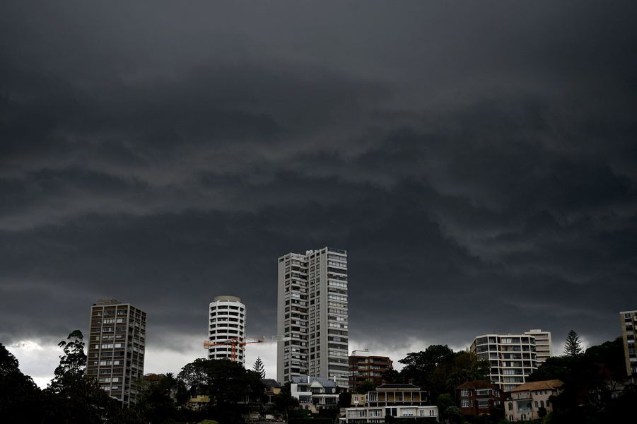 Un ciel noir au-dessus de Sydney.