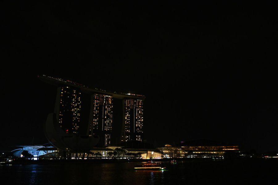 Le complexe hôtelier Marina Bay Sands de Singapour.