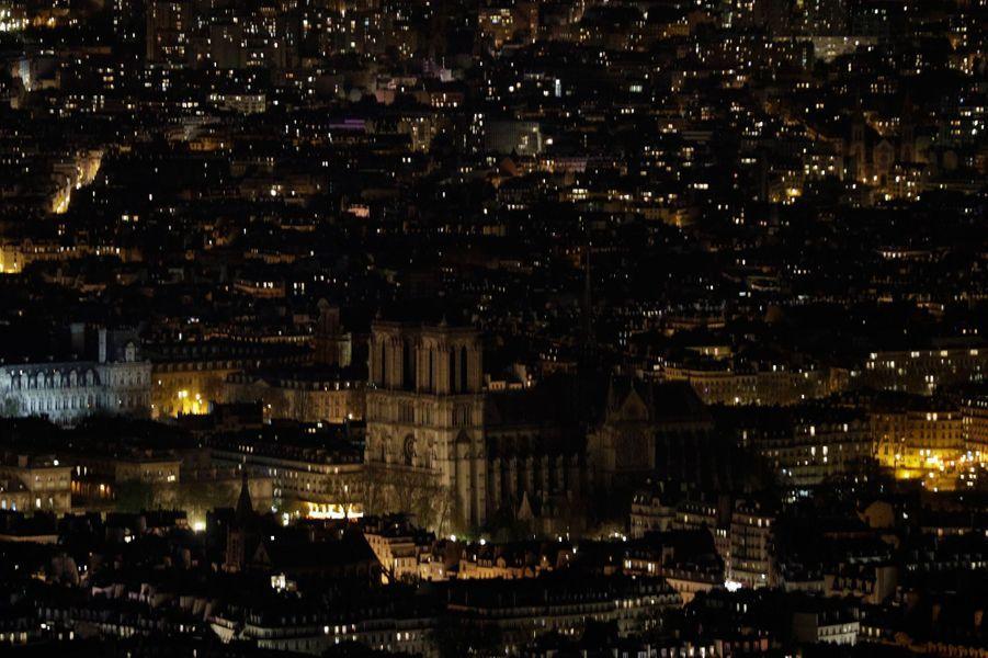 La cathédraleNotre-Dame de Paris.