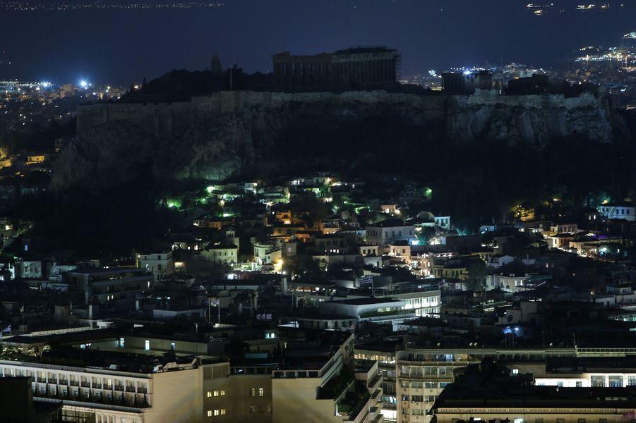 LeParthénonsitué sur l'Acropole d'Athènes.