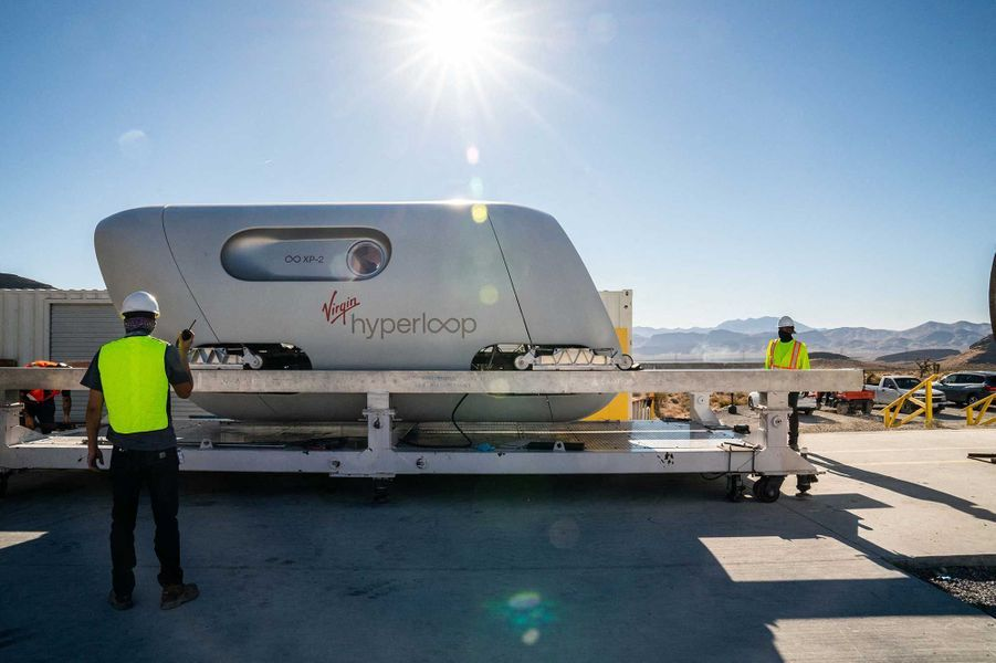 Le train futuriste Virgin Hyperloop.