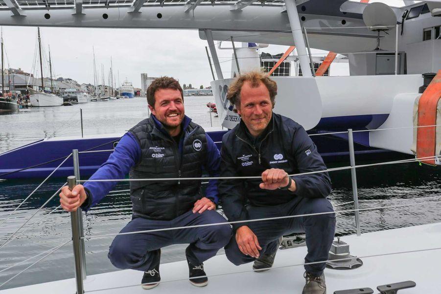 Victorien Erussard et Jérôme Delafosse, les deux navigateurs.