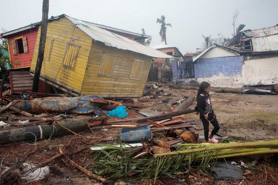 La ville de Puerto Cabezas, auNicaragua, dévastée par l'ouragan Iota.