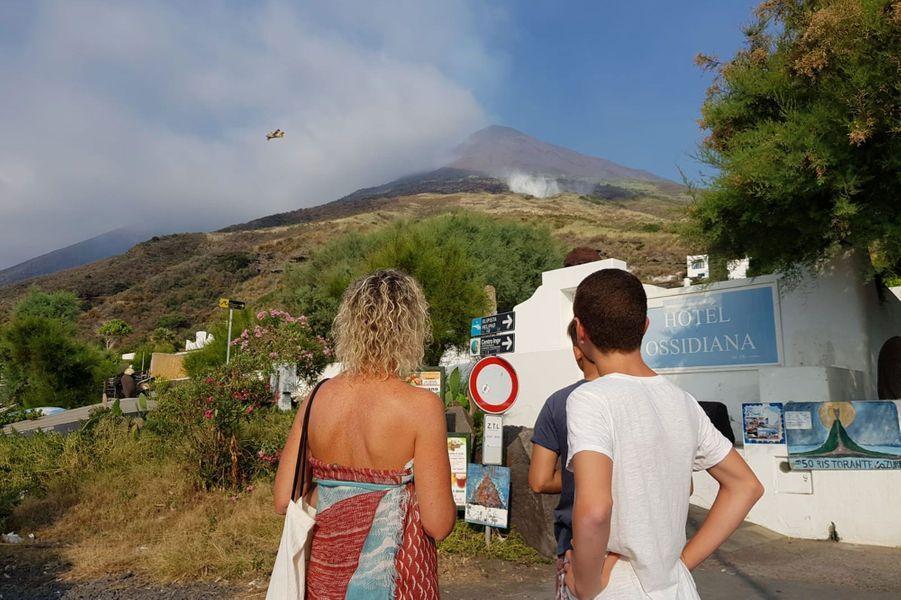 Stromboli, dans le nord de la Sicile, le 4 juillet 2019.