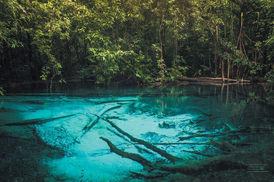 Une piscine bleue au coeur du Parc national Phanom Bencha, en Thaïlande.