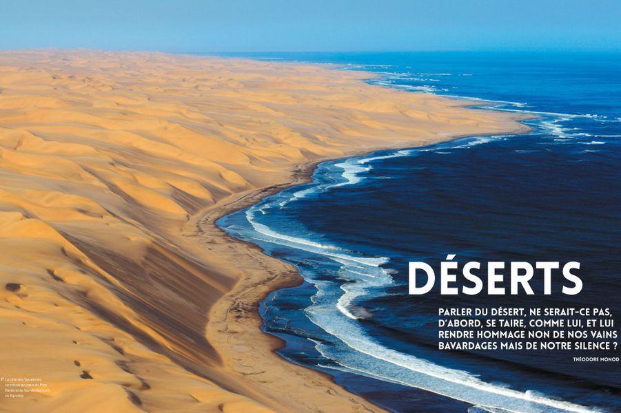 La côte des squelettes se trouve au coeur du Parc National de Namib-Naukluft, en Namibie.
