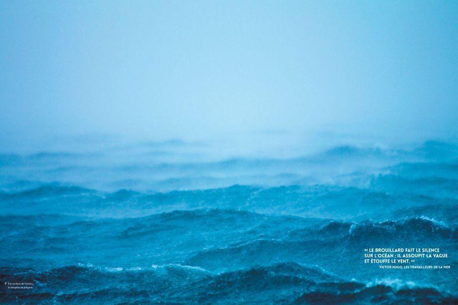 A la surface de l'océan, une tempête se prépare.