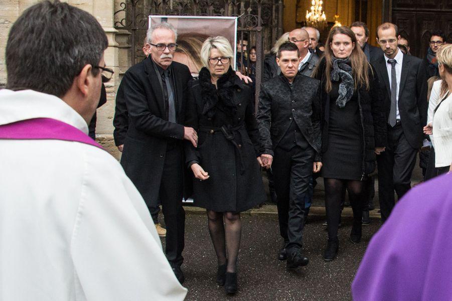 Les obsèques d'Alexia Daval ont eu lieu à Gray (Haute-Saône), mercredi 8 novembre 2017.