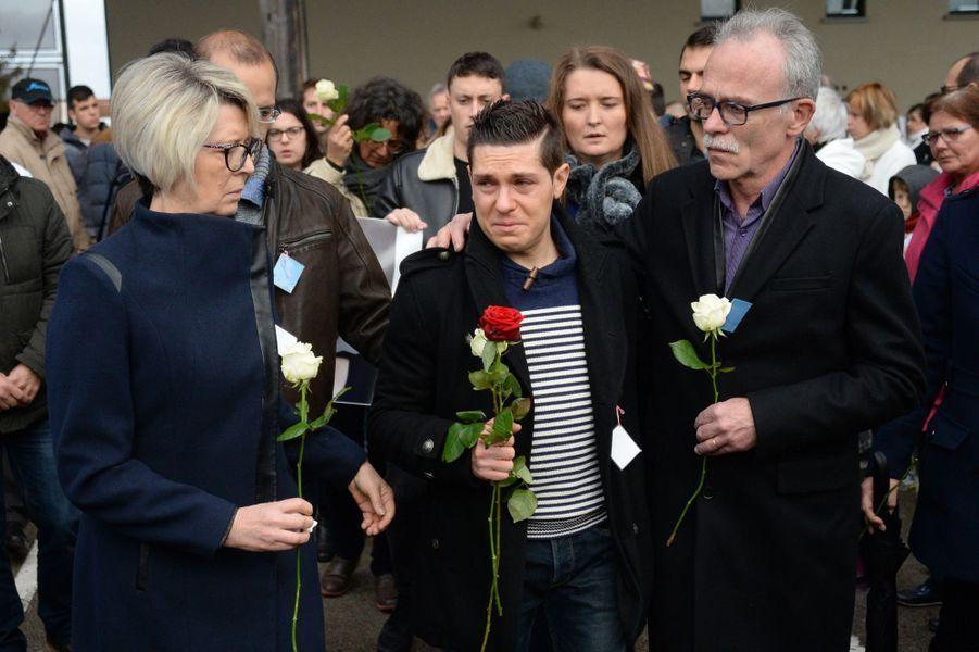 Les obsèques d'Alexia Daval ont eu lieu à Gray (Haute-Saône),mercredi 8 novembre 2017.