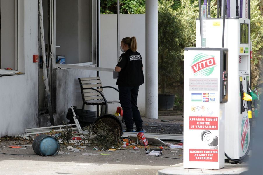 A Sartène, une station service a été fortement endommagée par une explosion d'origine criminelle.