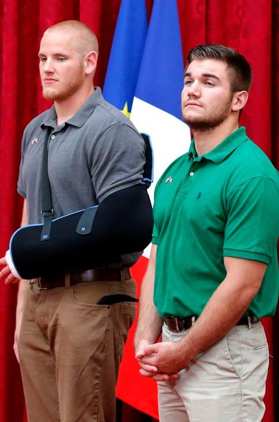 Spencer Stone et Alek Skarlatos