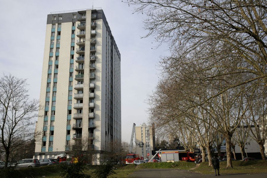 Un incendie a tué une personne âgée à Aulnay-sous-Bois, le 21 février 2019.