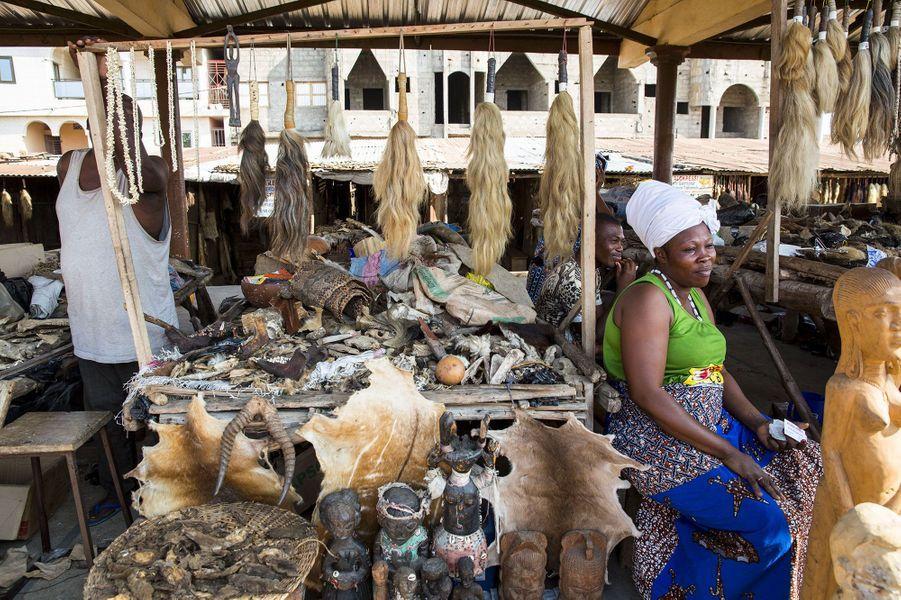 Au cœur de l'inquiétant marché vaudou de Lomé