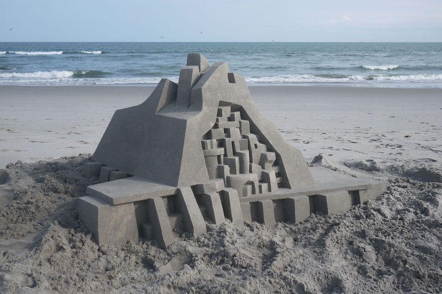 Calvin Seibert, le roi des châteaux de sable